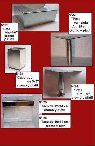 pata de aluminio espejo angulo cerrado nº 4 de 5 cms otras