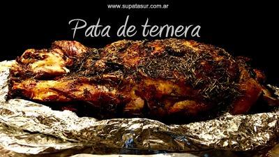 pata de ternera y cerdo asado, pernil party - supata -
