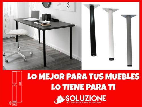 pata metalica acero 1110mm mesa escritorio fuerte resistente