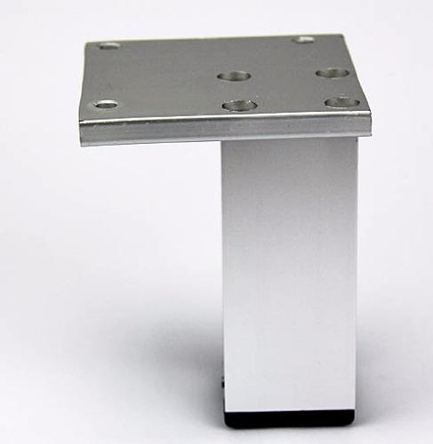 pata mueble cocina aluminio 10cm 38x38mm moderna verashop