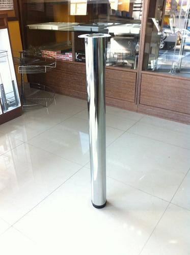 pata para muebles cromada 6 x 71 cm exelente