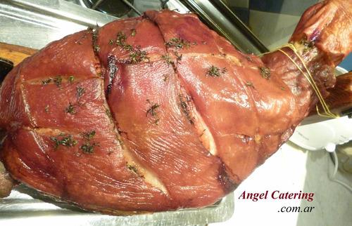 pata pernil party de ternera cerdo servicio catering z norte