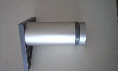 pata redonda de aluminio para mueble de 20cm