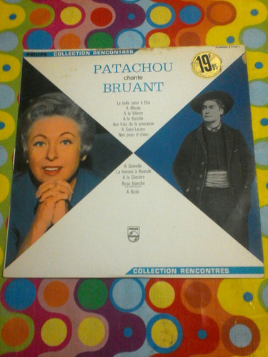 patachou chante bruant lp. importado francia
