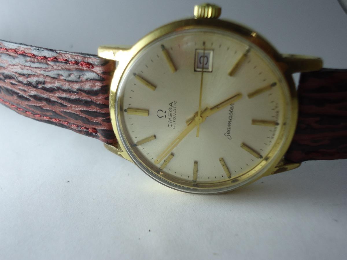 bdfa83f34eb patacão antigo relógio omega seamaster ouro-plaque (barato). Carregando  zoom.