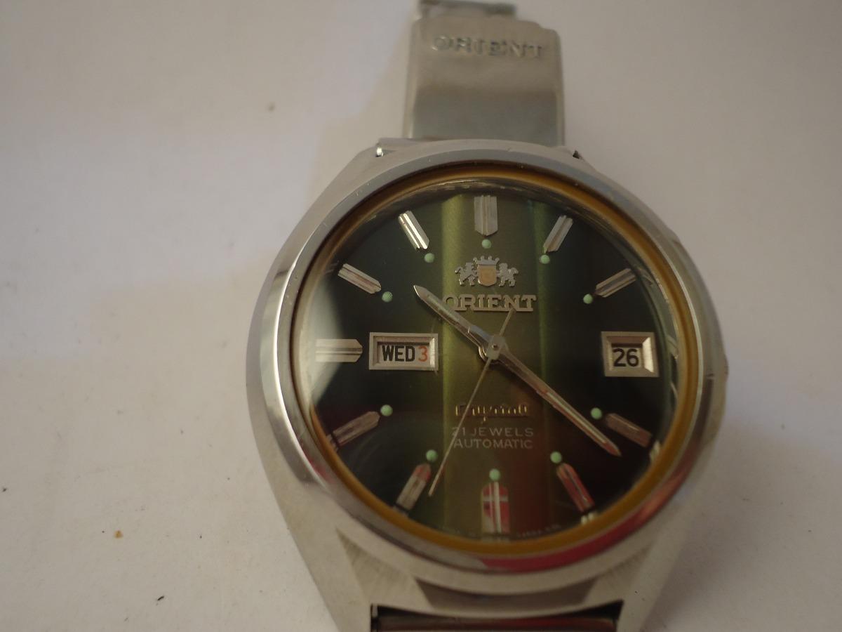 aecd9ce7d28 Patacão Antigo Relógio Orient Automático - 2 Janelas (raro) - R  350 ...