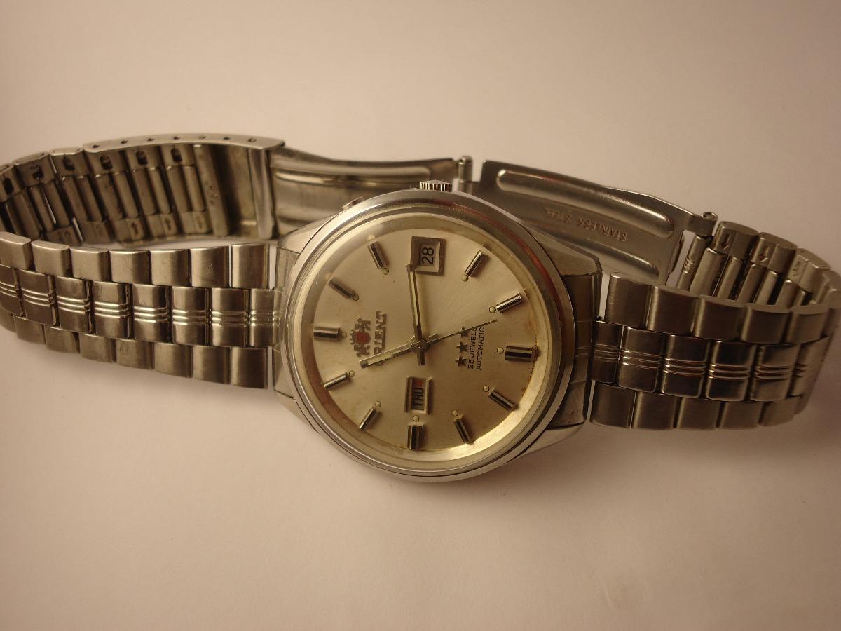 674c1f84f95 Patacão Relógio Orient Antigo De 2 Janelas (1.961) Raro - R  300