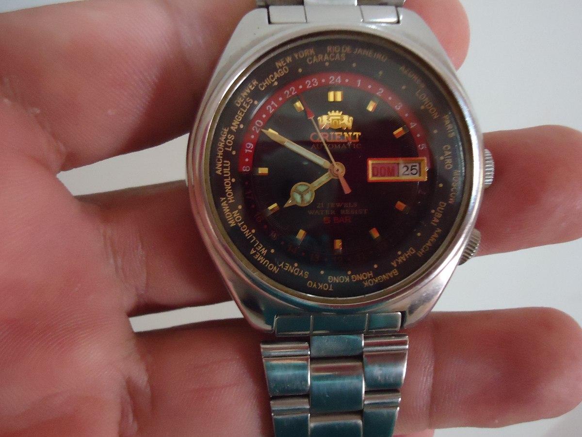 5d2f08878c2 patacão relógio orient automatico king diver horario mundial. Carregando  zoom.