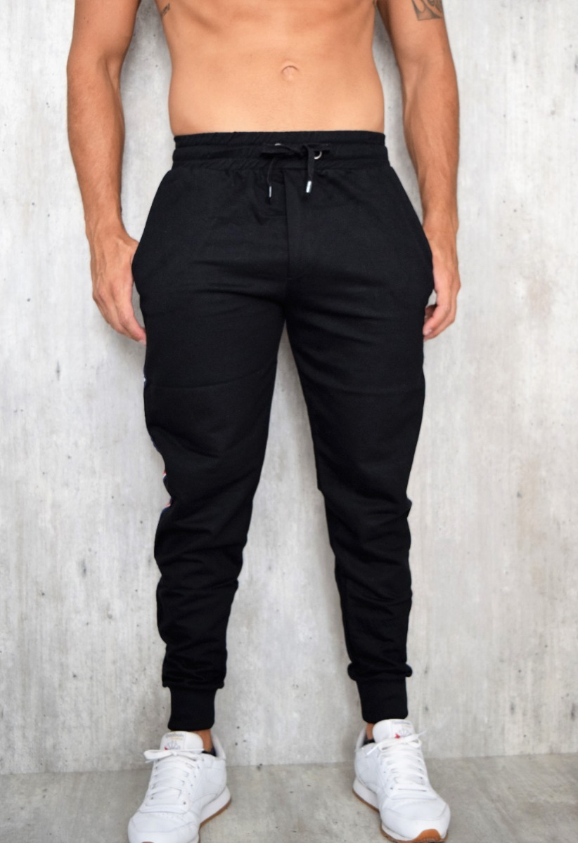 como comprar amplia selección de colores y diseños ventas especiales Patalon Jogger Negro Liso Hombre 10 Unidades Por Mayor