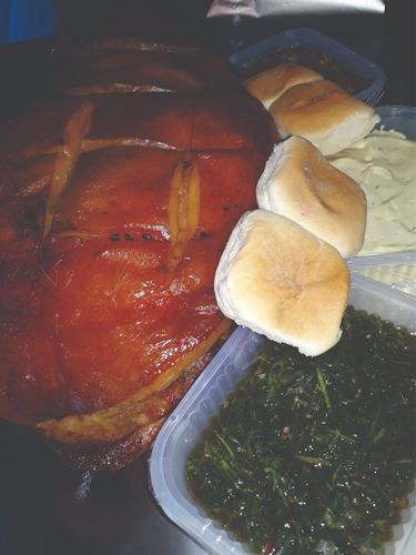 pata/pernil cerdo paleta +4 salsas+60 pan.18/20 pers. boedo