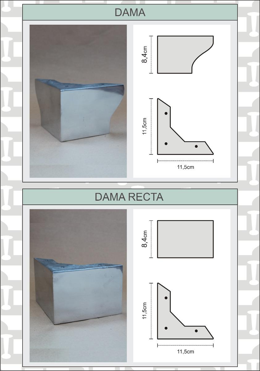 Patas de aluminio para sillones y muebles 130 00 en - Patas de aluminio para muebles ...