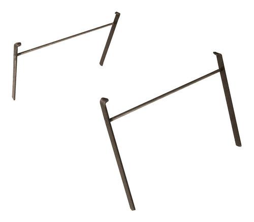 patas de hierro desmontables la planchetta 2 hornallas