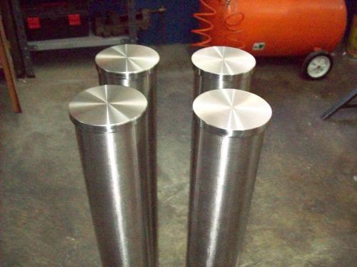 patas de mesa acero inoxidable redondas 38 mm