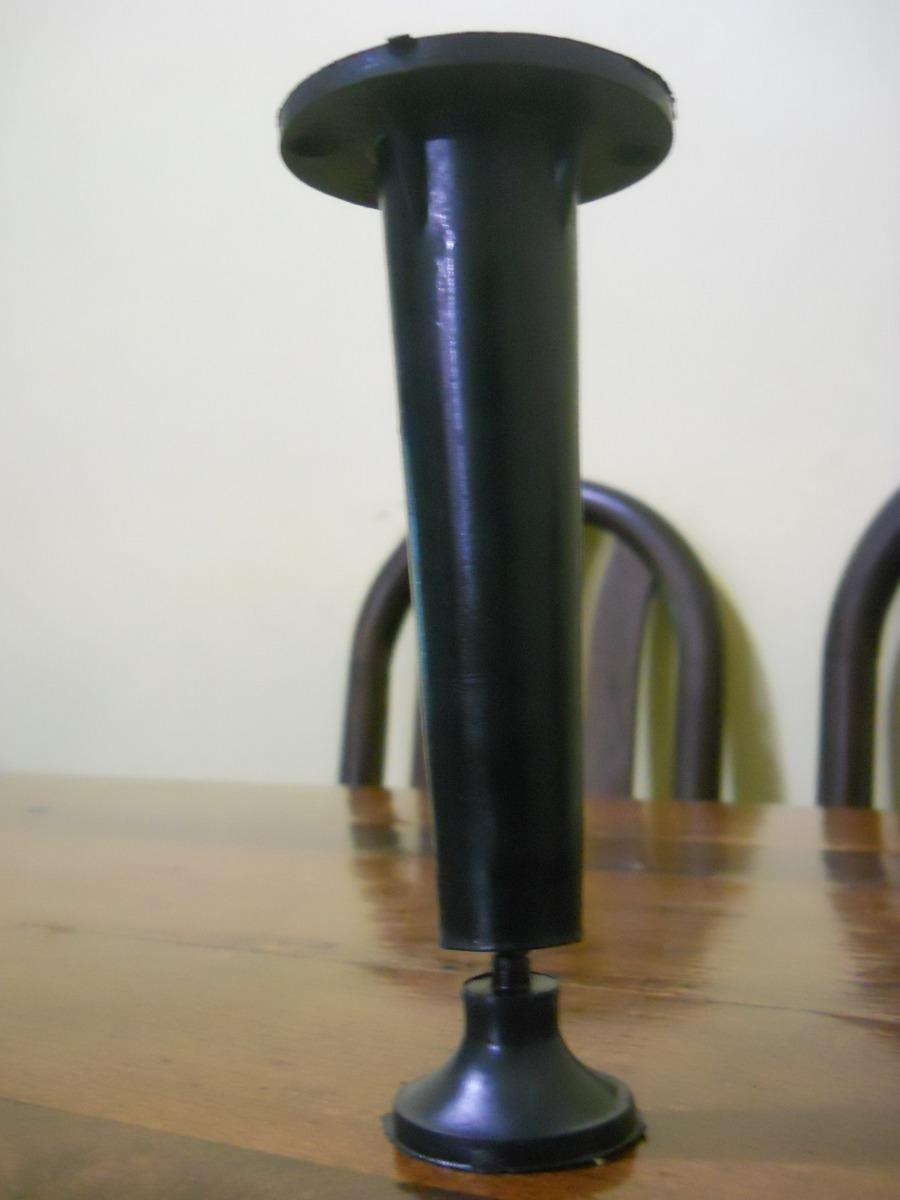 Patas Para Muebles Cocina Plastico Negro Conica 10cm =23 - $ 23,00 ...