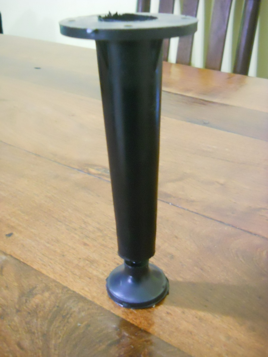 Patas Para Muebles Cocina Plastico Negro Conica 10cm =36