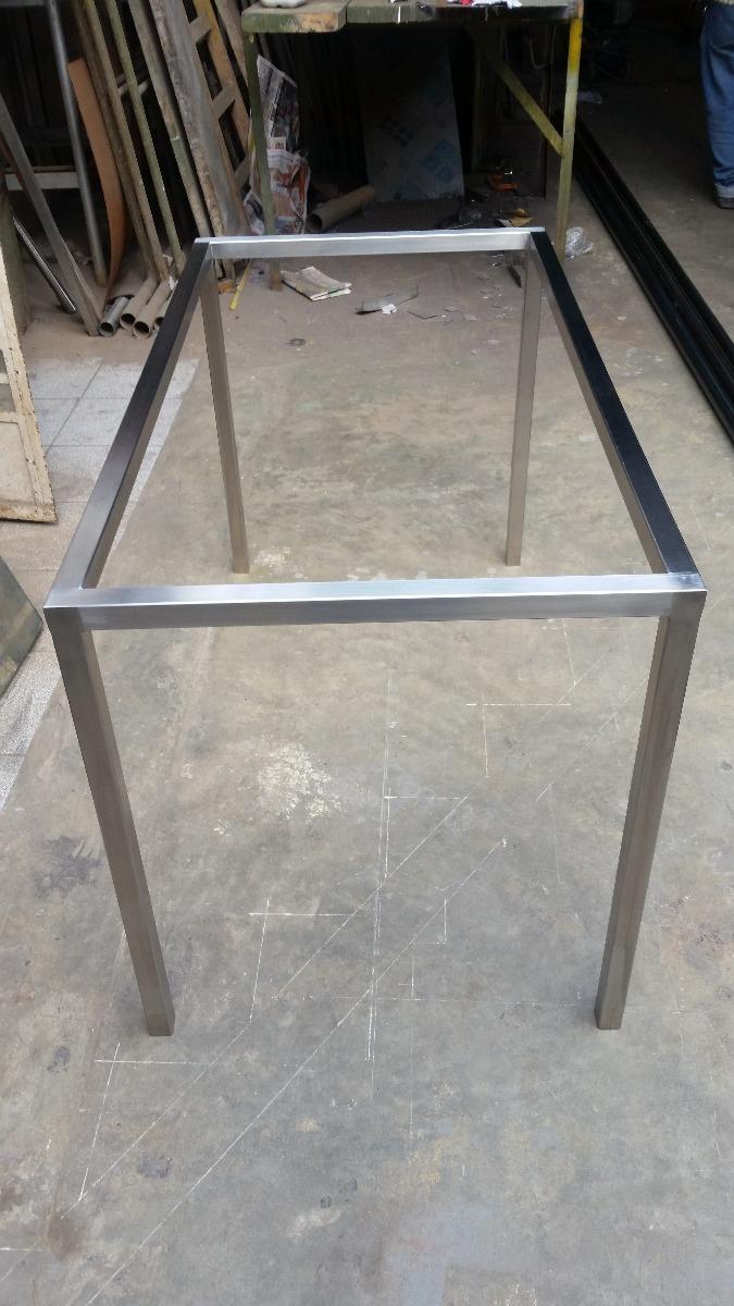 Patas y base para mesa de acero inoxidable y fierro s for Bases para mesas de centro