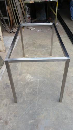 patas y base para mesa de acero inoxidable y fierro