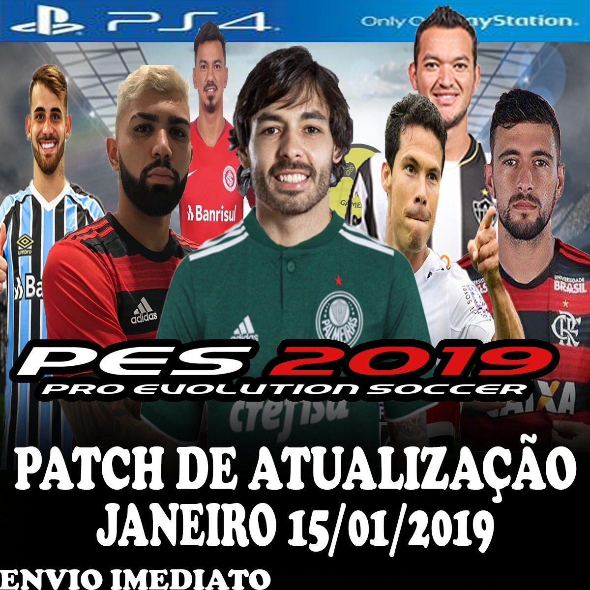 9aae4e4b2b Patch (atualização) Pes 2019 Ps4 Envio Imediato - R  14