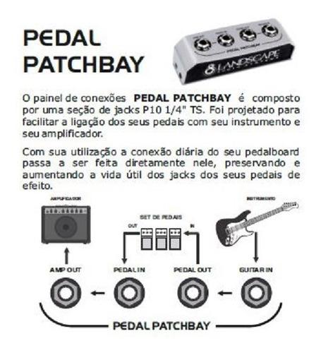 patch bay cabo fonte pedal pedais case pedalboard landscape