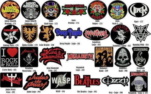 patch bordado banda rock metal promoção.