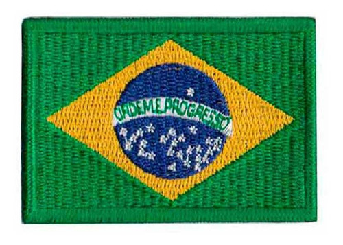 patch bordado - bandeira brasil media bd50014