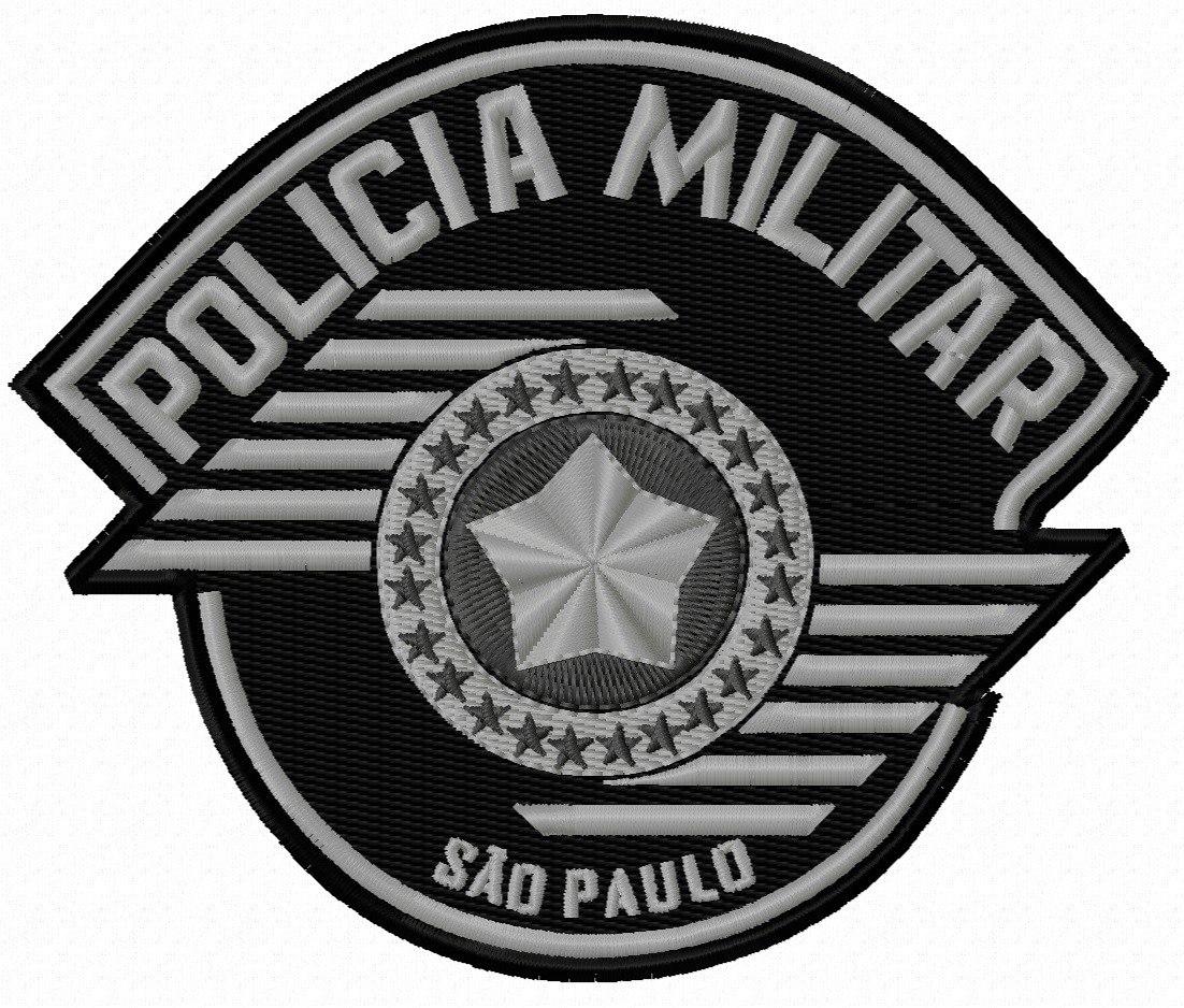 patch bordado brasão polícia militar - sp 108x90 (tático). Carregando zoom. c25f57d28e4