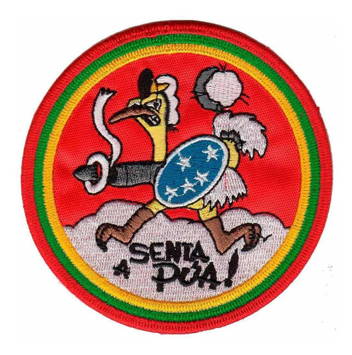 patch bordado - colecao brasil 2 guerra senta a pua! av20082