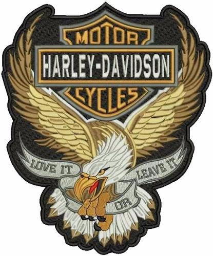 patch bordado  harley davidson 35x28 com termocolante.