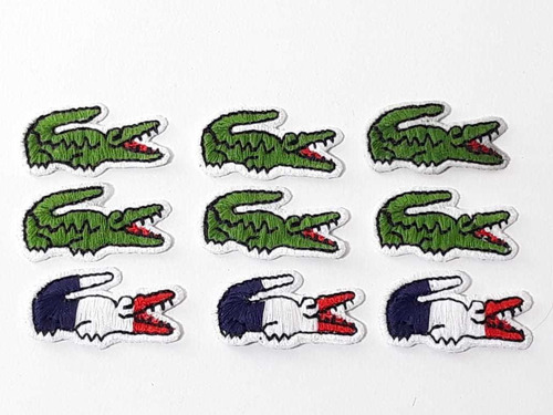 patch bordado lacoste kit 10 unidades logo marca jacare