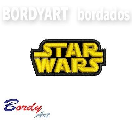patch bordado logo star wars  - 7,0 x 3,5 cm.
