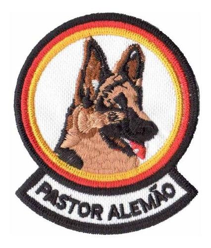 patch bordado - pet cachorro raça pastor alemão dv80386