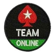 patch bordado pokers stars redondo com termocolante 7cm
