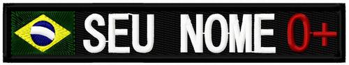 patch bordado tarjeta nome_100x21 (padrão forças armadas)