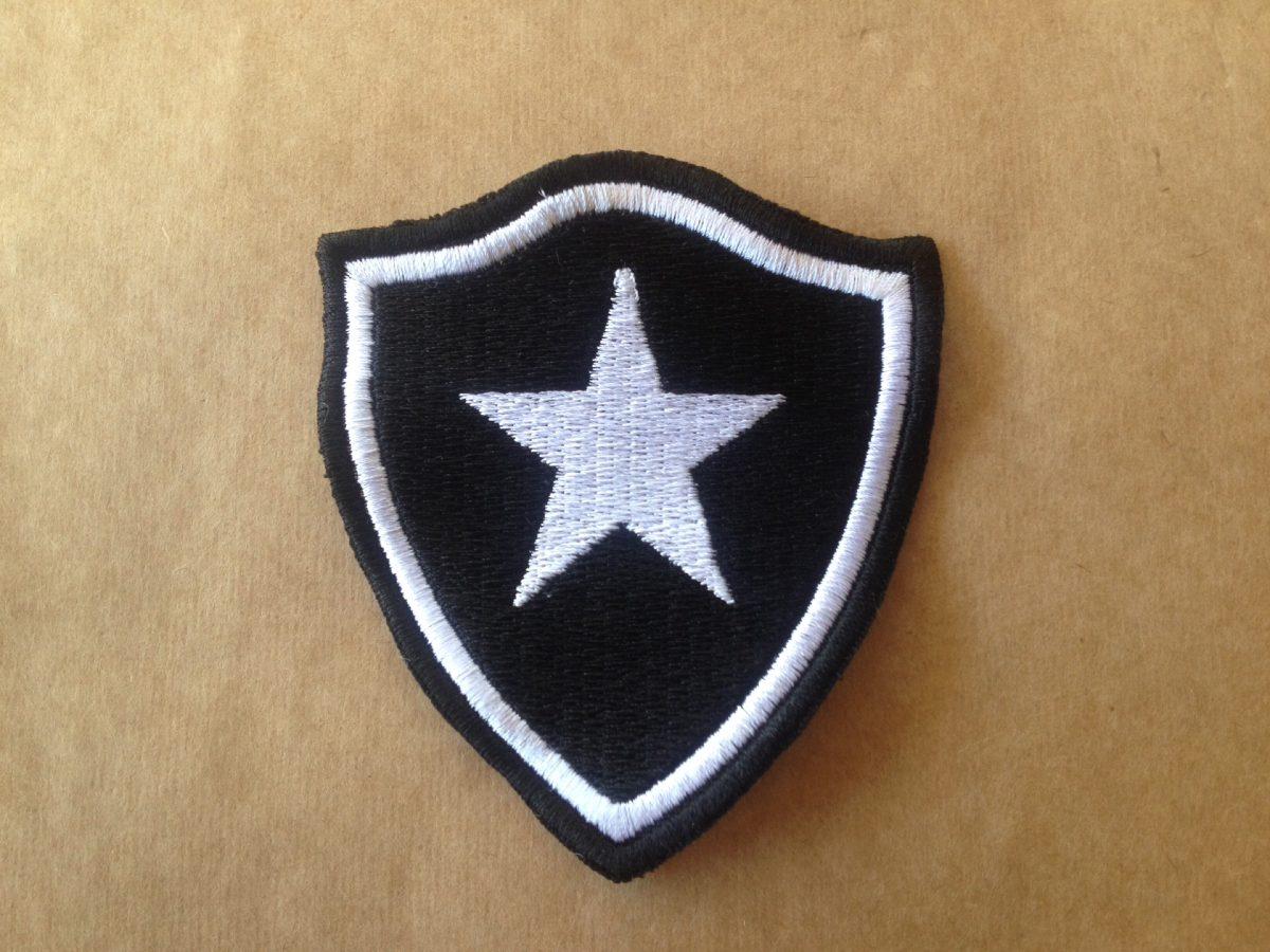 Patch Bordado Termocolante Escudo Time Botafogo (rj) 5cm - R  29 9aa0345574499