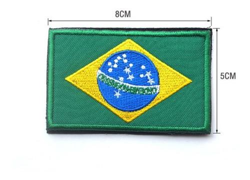 patch bordado velcro bandeiras mundo estados brasileiros