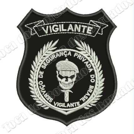 patch bordado vigilante 10x8cm c/ fix. marca velcro® mlt289