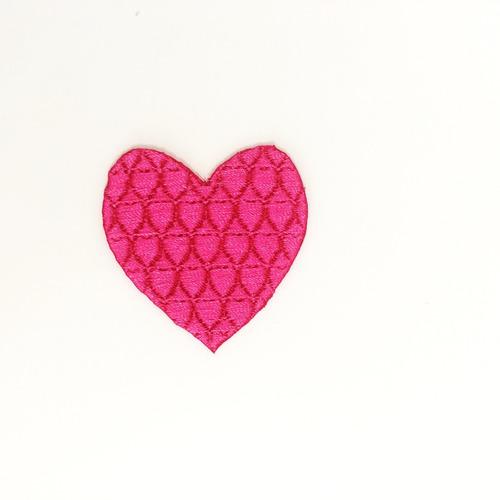 patch coração rosa | aplique fashion em tecido termocolante