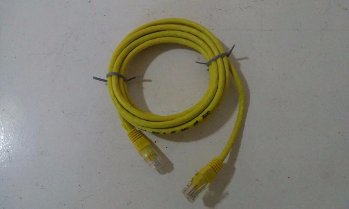 Patch Cord 5e 15m Amarelo Tia Eia 568b R 350 Em Mercado Livre Wiring Carregando Zoom