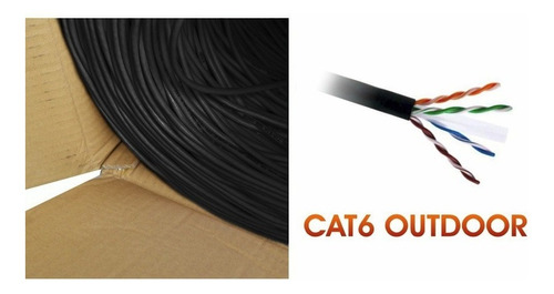 patch cord / cable red utp cat. 6 exterior miokee 305 mts.