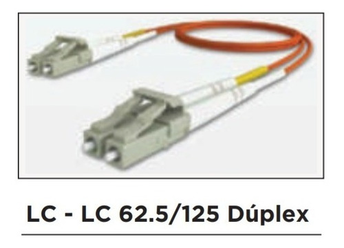 patch cord de fibra optica multimodo lc-lc 10 metros
