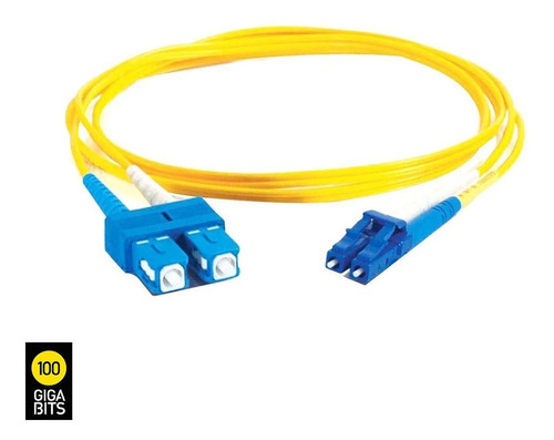 patch cord fibra optica sc / lc monomodo 1,5 mtros