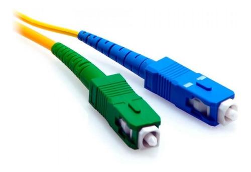 patch cord fibra optica sc/apc a sc/upc monomodo 2 mts