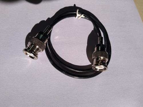 patch cord video bnc  x bnc 3mm 50 cm 8 pçs