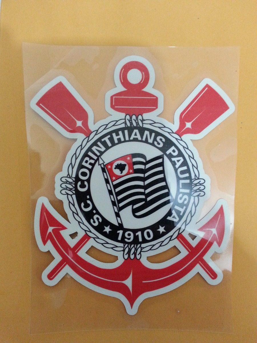 Patch Estampa Escudo Termocolante Para Camisa Corinthians - R  18 f098bf9f4778d