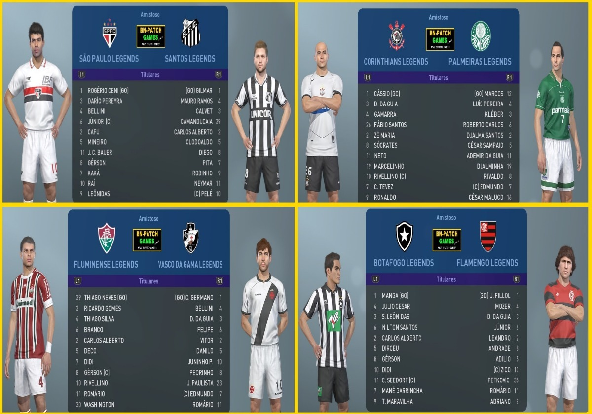 Patch Legends Para O Jogo Pes2019 Ps4