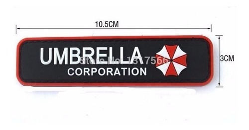 patch militar emborrachado - umbrella corporation 1