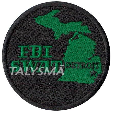 patch p/ uniforme policia federal fbi swat detroit pl60170