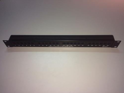 patch painel painel de emenda rj45 24 pos.19 pol. 1u cat 5e