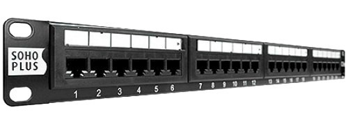 patch panel 24 portas cat5e furukawa sohoplus qualidade top