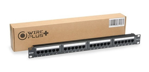 patch panel 24 puertos cat 5 cat5 cat5e rackeable wireplus